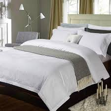 4 6pcs satin cotton pure white hotel luxury bedding set queen king size bed set