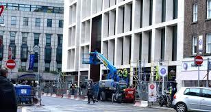 building an office. Work In Progress On Molesworth Street, Dublin 2 .Photograph: Cyril Byrne/The Building An Office I