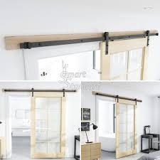 8 foot interior doors unique amazon sliding barn door hardware kit 8ft heavy duty sy