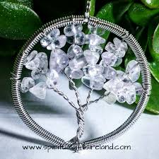 clear quartz tree of life crystal pendant 3