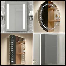 Homey Ideas Battery Operated Bathroom Mirror Illuminated Mirrors