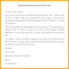 Referral Letter For Employment How To Format A Reference Letter Idmanado Co