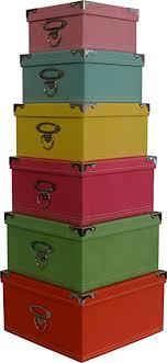 Cheap Decorative Storage Boxes Amazon Decorative Storage boxes in pastel colors nested 90