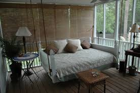 View in gallery Full size bed swing adds to the relaxing atmosphere here