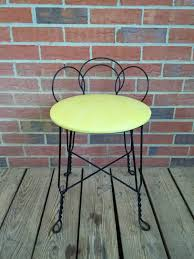 furniture graceful bathroom vanity chair with back 31 wrought iron bench stool design round yellow leather