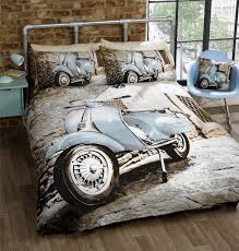 scooter vespa classic italian style bedding duvet cover
