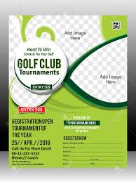 Golf Tournament Flyer Template Golf Tournament Flyer Template Design Illustration