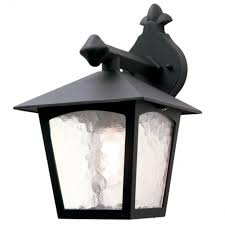 Elstead Lighting York BL Black Wall Lantern At LoveLighting - Exterior lights uk