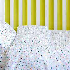 multicolour star toddler cot bed duvet set by lulu and nat notonthehighstreet com
