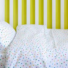 multicolour star toddler cot bed duvet set