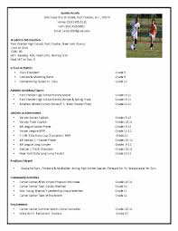 Soccer Player Resume Template. soccer recruiting resume - Google Search