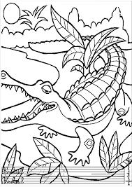 Dessins Colorier Coloriage Crocodile Imprimer Prefix Magique X En