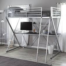 Folding Bunk Bed Duro Z Bunk Bed Loft With Desk Silver Hayneedle