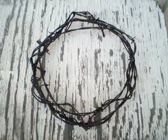 wreath rustic barbed wire home decor barbed by wearehomecrafting