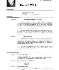 Professional Resume Format File A Good Resume Example