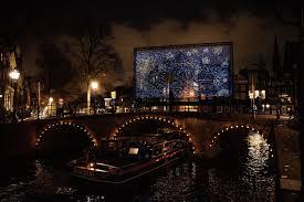Van Gogh Museum Amsterdam Light Show Sterrennacht Op De Gracht Nrc