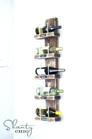 wall mounted metal wine rack ed vintageview 12 bottle 4 long stem glass holder cork