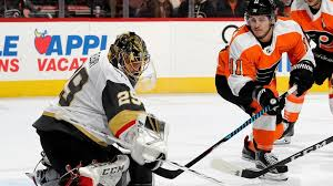 flyers nhl fleury gets 400th nhl win golden knights top flyers