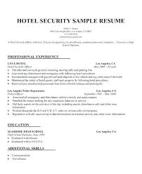 R New Security Guard Resume Sample No Experience Reference Of Custom Security Officer Resume