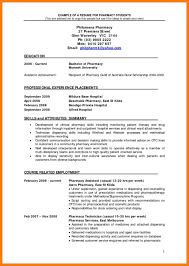 Samples Resume Pharmacy Cv Template Template Pharmacy Curriculum