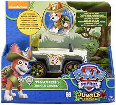 Amazon Com Paw Patrol Jungle Rescue Trackers Jungle Cruiser