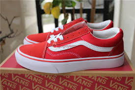 vans shoes red and white. vans old skool skate shoes red white larger image and