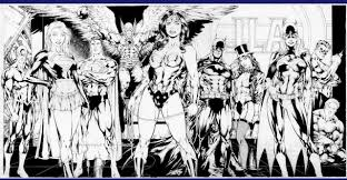 Jla Black And White Batman Comic