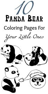 Top 10 Panda Bear Coloring Pages