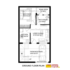 house plan for 20 feet by 35 feet plot plot size 78 square yards gharexpert com