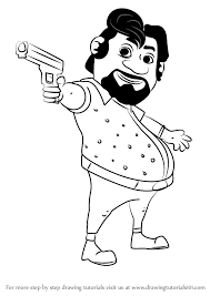 how to draw john from motu patlu