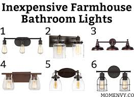 farmhouse vanity lights. Inexpensive Farmhouse Bathroom Lights. Which Light Would You Choose? All Lights Are Vanity L