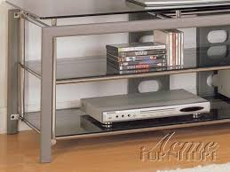 altra metal glass top tv stand 2148 by acme furniture 228 34
