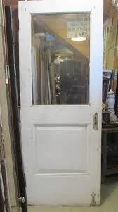 3835 antique 1 panel glass upper entry door