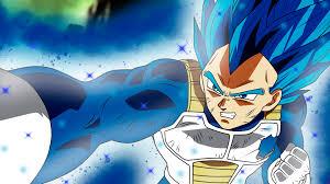 anime dragon ball super vegeta ssj blue full power