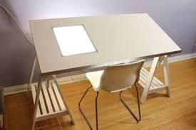 IKEA Drawing Drafting Table with tracing window (light box)