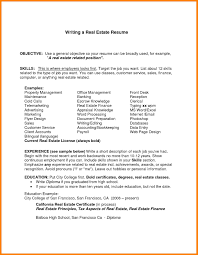 11 Real Estate Resume Objective Letter Of Apeal
