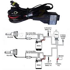 aliexpress com buy hid wiring replacement 35w 55w hid h l bi aliexpress com buy hid wiring replacement 35w 55w hid h l bi xenon relay harness wiring controller h4 9003 9004 9007 h13 9008 relay wiring harness from