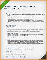 Elementary Teaching Resume Examples Substitute Teacher Resume Sample