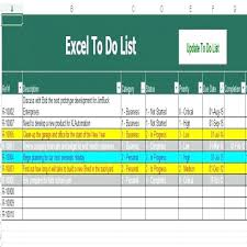 to do lists excel excel task list project management to do list template excel