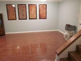 wooden painting basement floor