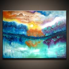 abstract acrylic landscape paintings landscape painting ideas on easy acrylic paintings with