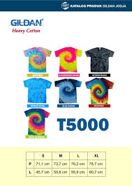 Gildan Color Chart 5000 T 5000 Gildan Heavy Cotton Tie Dye Gildan Jogja
