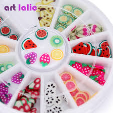 240pcs 3D Fruit Nail Art Fimo Canes Polymer Clay Stickers Tips DIY ...