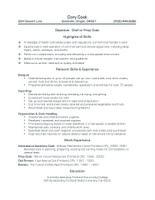 sample resumeschef or prep cook