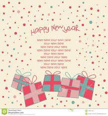 Happy New Year Card Stock Vector Illustration Of Greeting 14967493