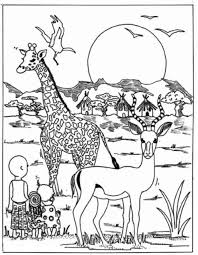 Small Picture Incredible Design African Coloring Pages Africa Coloring Pages