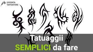 Tatuaggi Facili Da Fare Allinizio Youtube