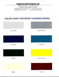 Epoxy Garage Floor Color Chart Solvent Free Epoxy Floor Paint Color Chart