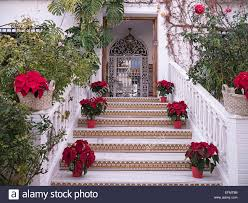 Decorations In Spain Christmas Decorations At Nerja In Southern Spain Stock Photo