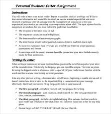 Letter Bussines Sample Personal Business Letter 9 Documents In Pdf Word
